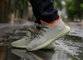 adidas Yeezy Boost 350 V2 Desert Sage FX9035 On Feet