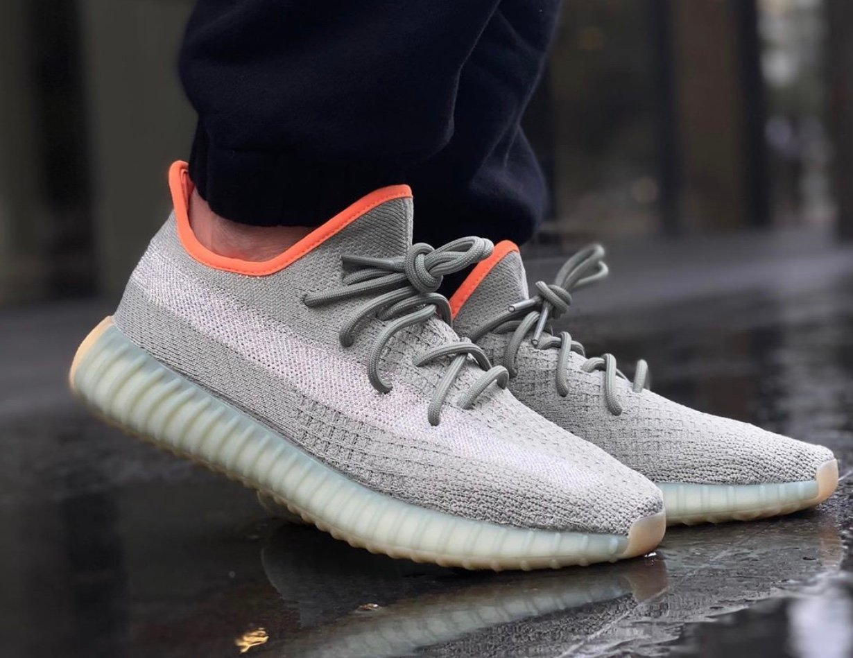 adidas Yeezy Boost 350 V2 Desert Sage FX9035 On Feet