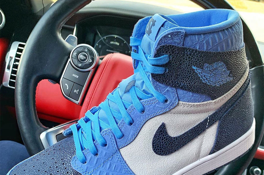 This Air Jordan 1 High UNC PE Features an Exotic Makeover