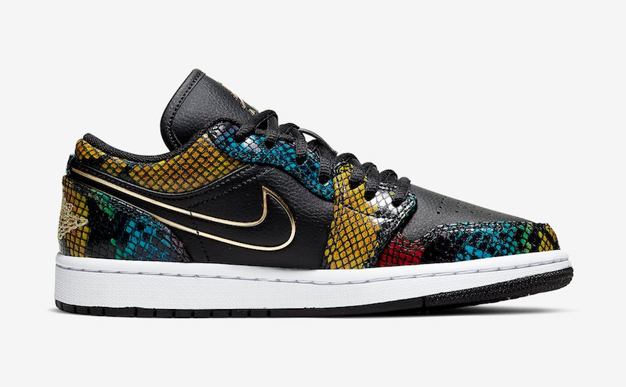 Air Jordan 1 Low Multicolor Snakeskin CW5580-001 Release Date