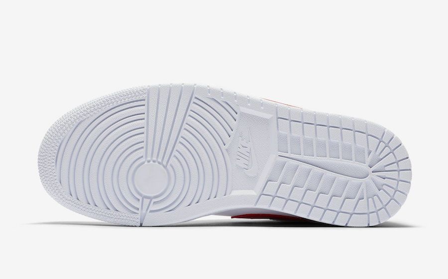 Air Jordan 1 Low White University Red AO9944-161 Release Dat