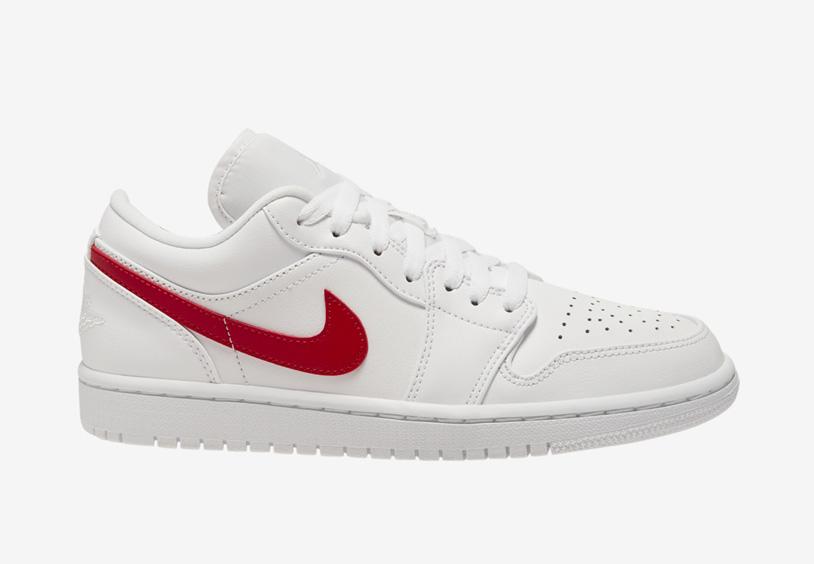 Air Jordan 1 Low White University Red AO9944-161 Release Date Info