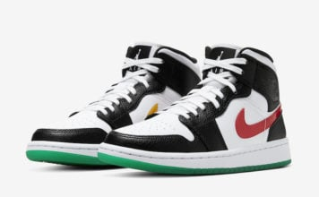 Air Jordan 1 Mid Alternate Swoosh Black Red White Green BQ6472-063 Release Date Info