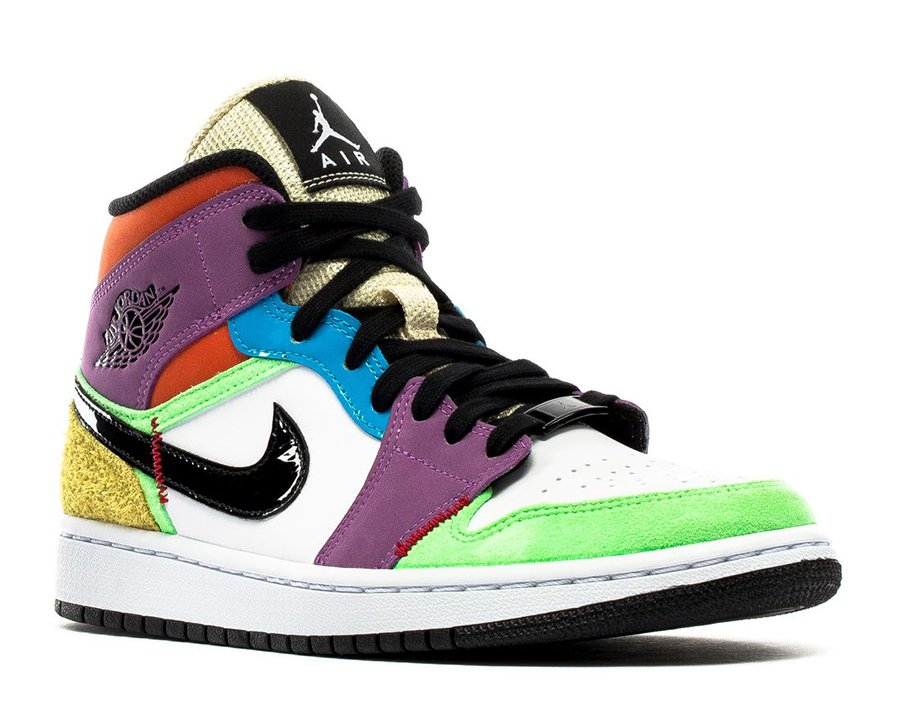 Air Jordan 1 Mid Se Multicolor Lightbulb Cw1140 100 Release Date