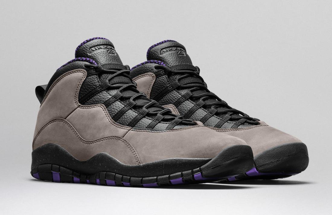 Air Jordan 10 Dark Mocha Infrared 23 Black Prism Violet CT8011-200 Release Date