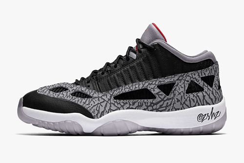 Air Jordan 11 Low IE Black Cement Release Date