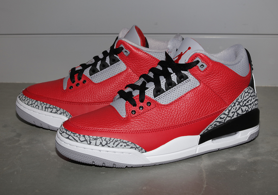 white red cement 3s