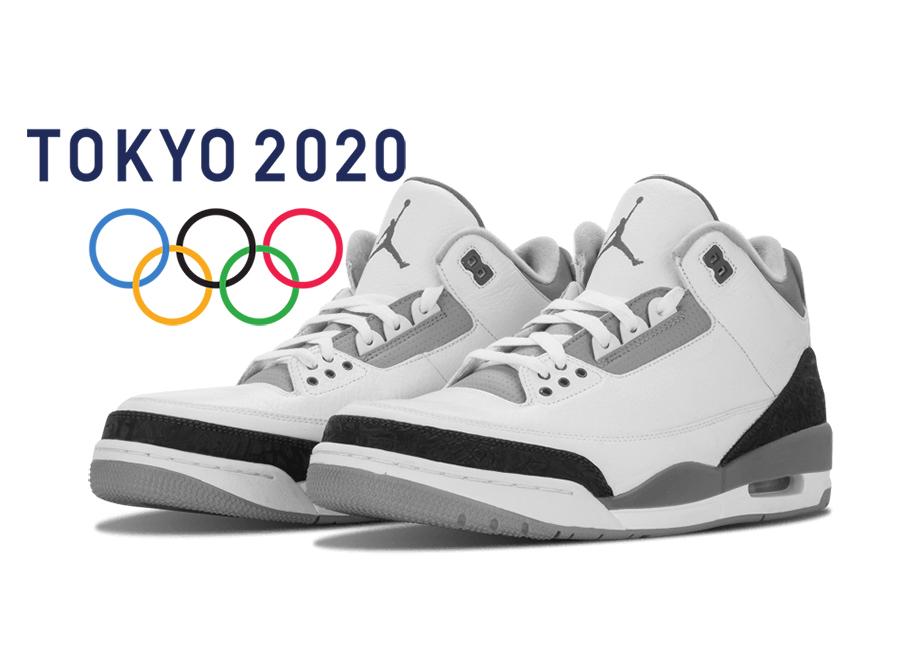 Air Jordan 3 Tokyo Olympics White Fire Red Black CZ6431-100 Release Date Info