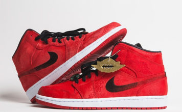 Clot Air Jordan 1 Mid Red Silk Release Date Info