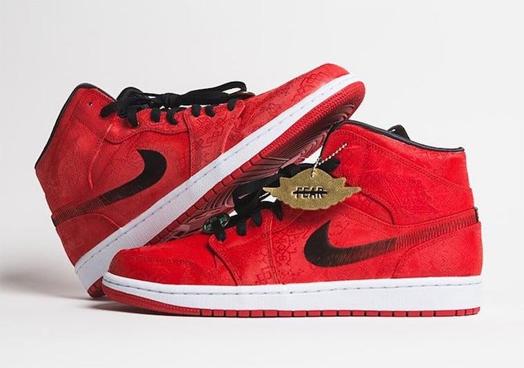 Clot Air Jordan 1 Mid Red Silk Release Date Info