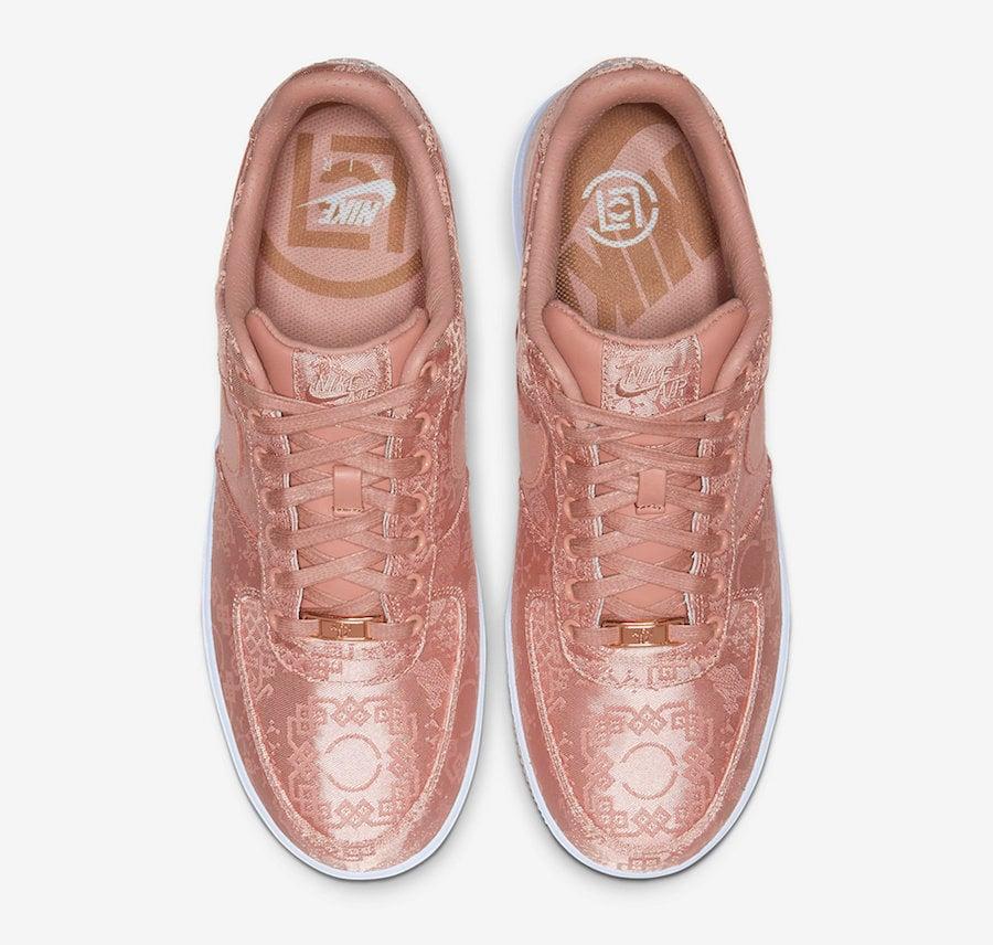Clot Nike Air Force 1 Rose Gold CJ5290-600 Release Info