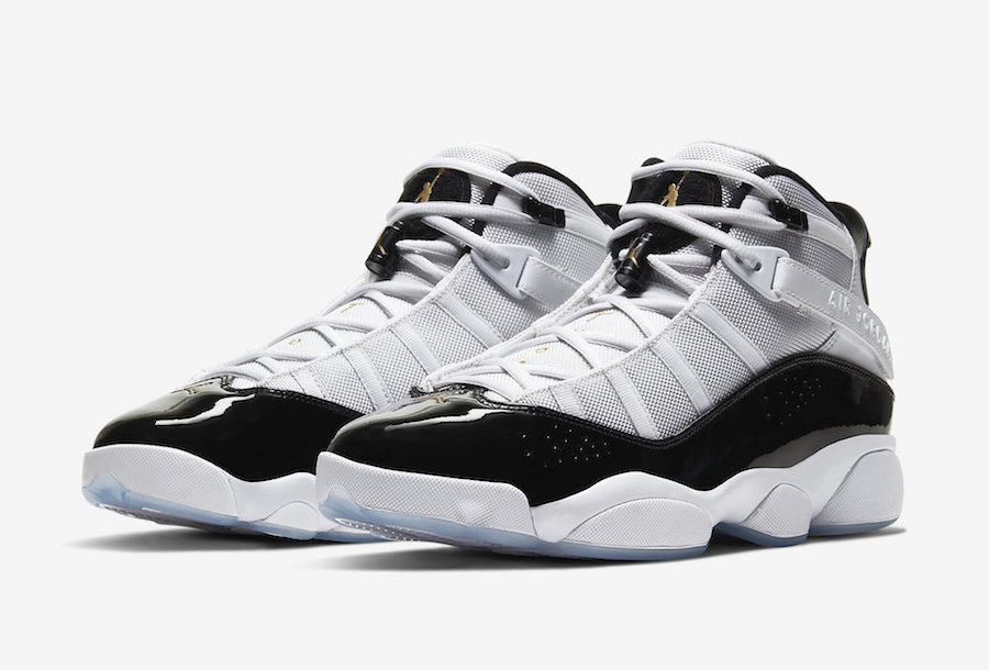 Black//White Jordan Air 6 Rings Kids