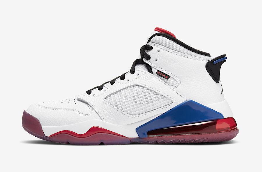Jordan Mars 270 White Red Blue CD7070-104 Release Date Info