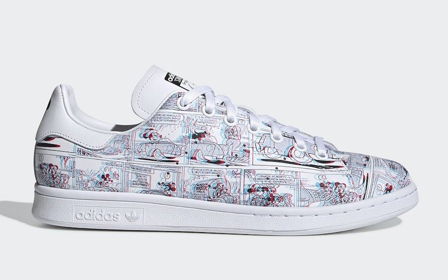 Mickey Mouse adidas Stan Smith 3D FW2911 Release Date Info