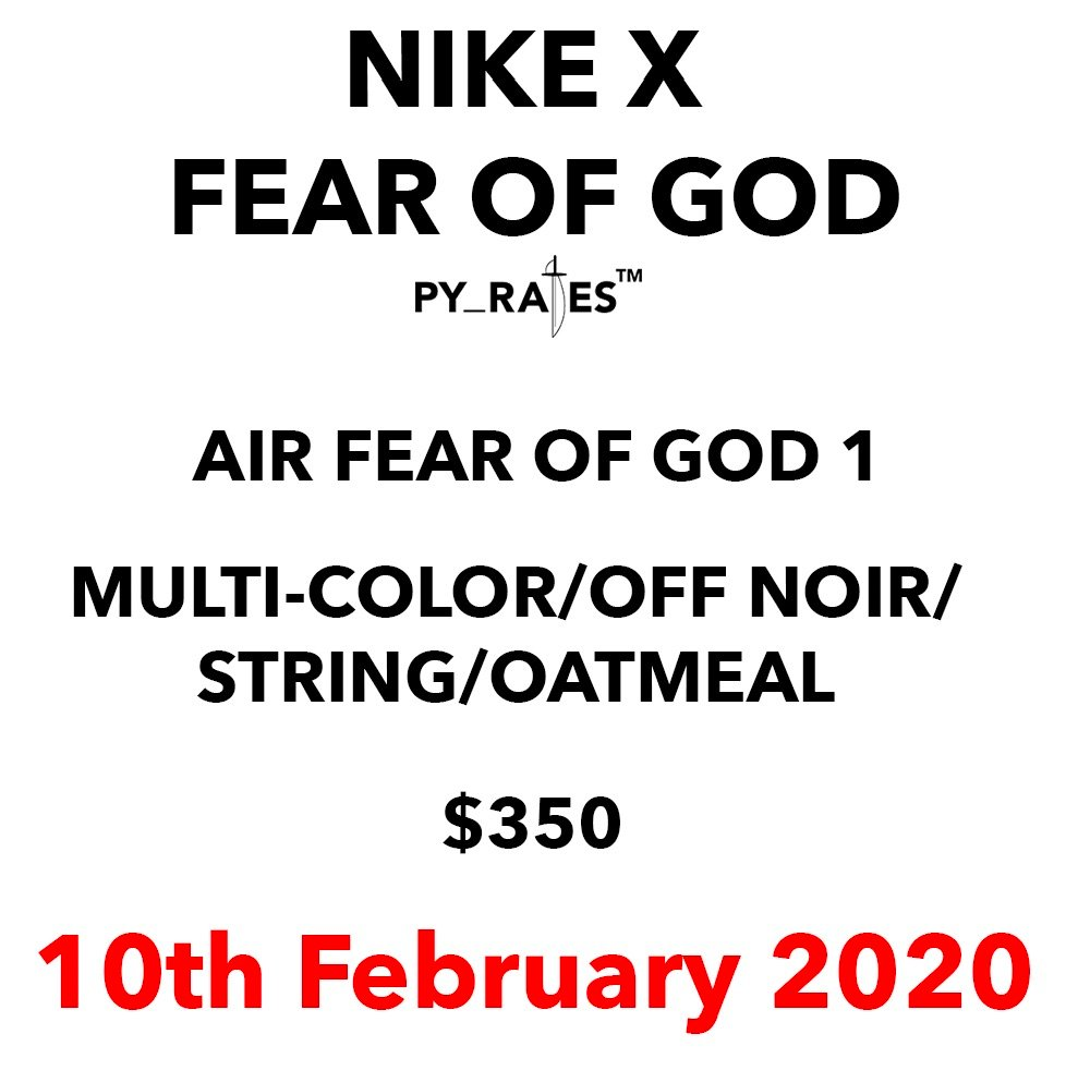 Nike Air Fear of God 1 Multi-Color Off Noir String Oatmeal Release Date Info