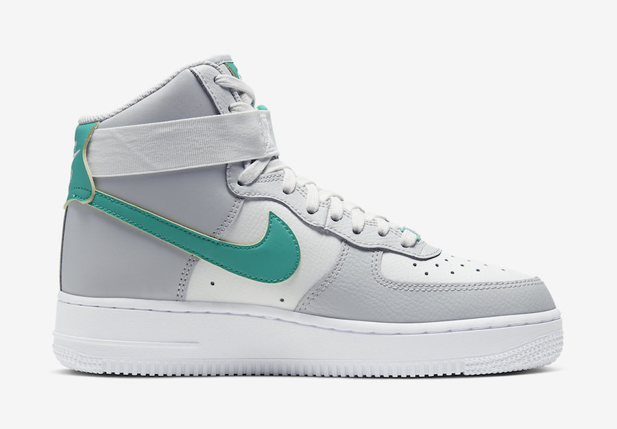 Nike Air Force 1 High Highlighted in Grey Fog and Neptune