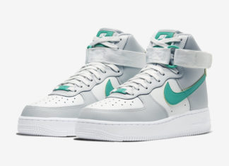Nike Air Force 1 High Grey Fog Neptune Green 334031-015 Release Date Info