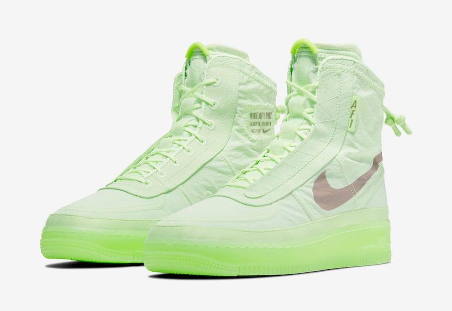 Nike Air Force 1 High Shell Volt BQ6096-700 Release Date Info