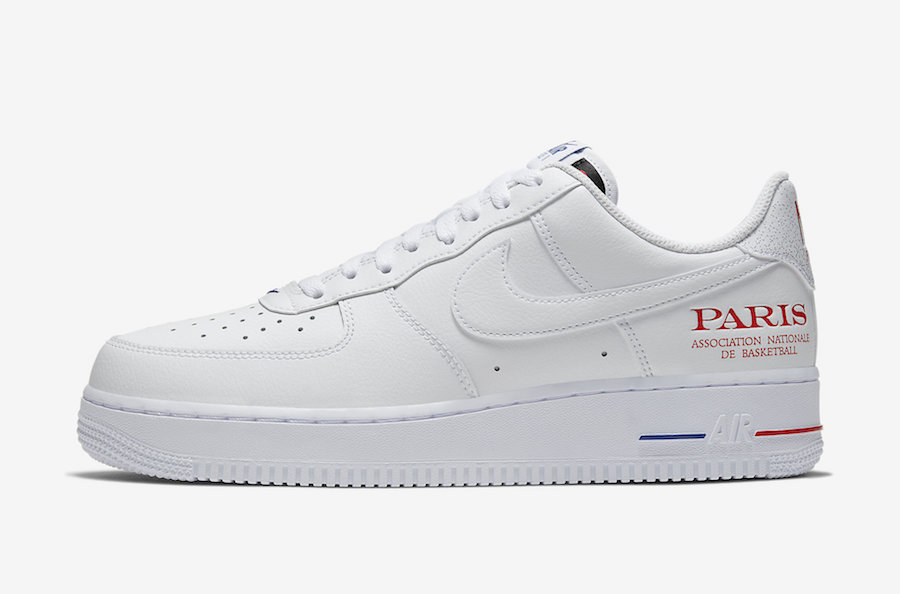 Nike Air Force 1 Low NBA Paris CW2367-100 Release Date info