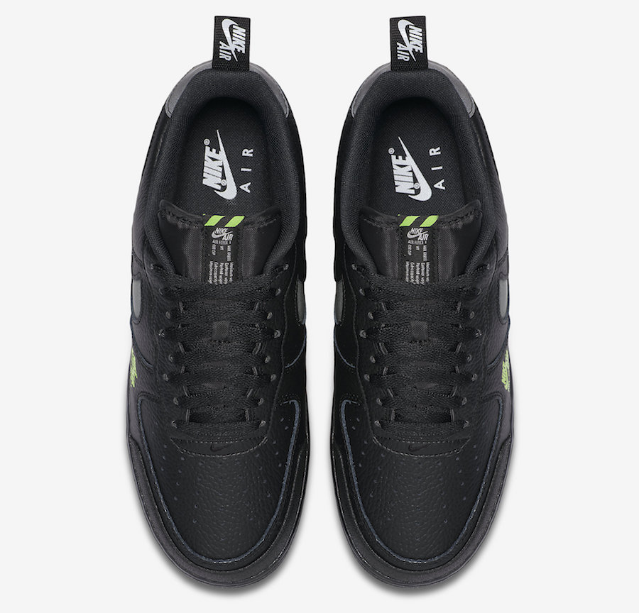 Nike Air Force 1 LV8 Utility in Black and Volt | Getswooshed