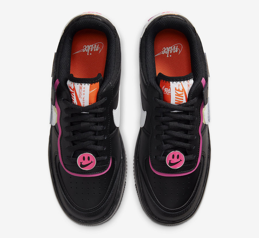 Nike Air Force 1 Shadow Black Fuchsia CU4743-001 Release Date Info