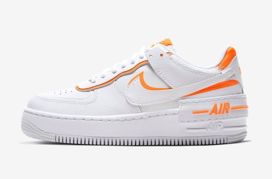 Nike Air Force 1 Shadow White Total Orange CI0919-103 Release Date Info