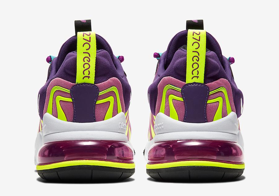 Nike Air Max 270 React ENG Eggplant Magic Flamingo CK2595-500 Release Date Info