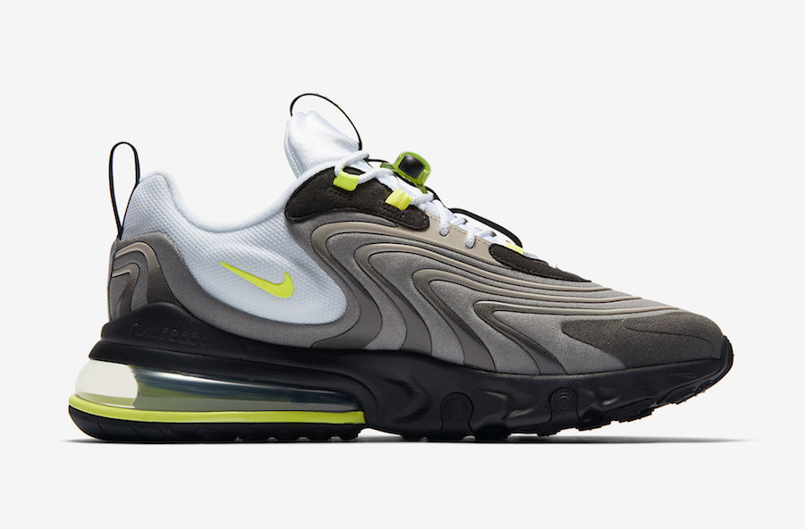 Nike Air Max 270 React ENG Neon CW2623-001 Release Date Info