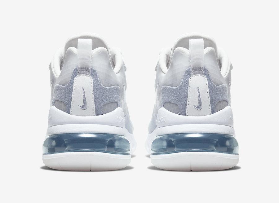 Nike Air Max 270 React Pure Platinum Indigo Fog CT1265-100 Release Date Info