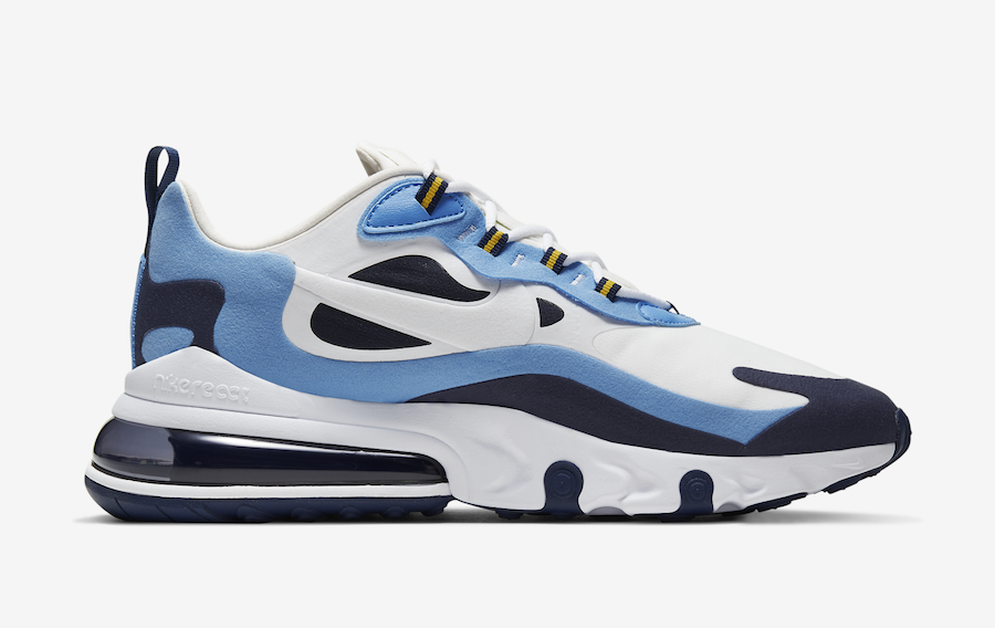 Nike Air Max 270 React White Blue Obsidian CT1264-104 Release Date Info
