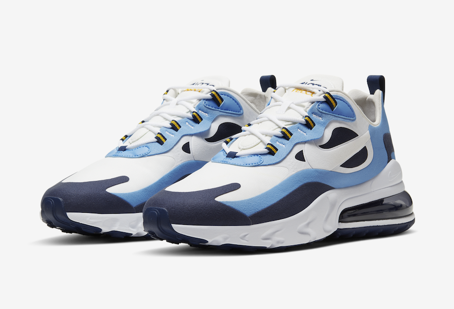 Nike Air Max 270 React White Blue Obsidian Ct1264 104 Release Date