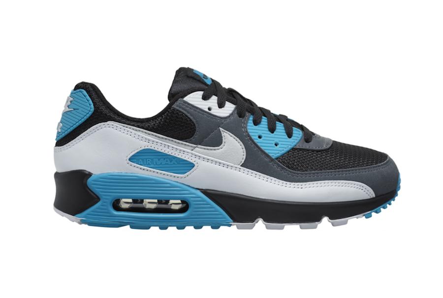 Nike Air Max 90 Black White Blue CT0693-001 Release Date Info