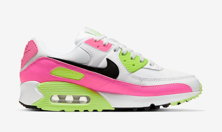 Nike Air Max 90 White Pink Volt CT1030-100 Release Date Info