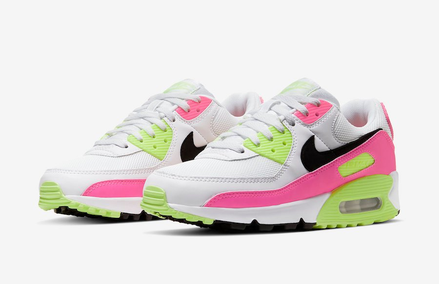 Nike Air Max 90 White Pink Volt CT1030 100 Release Date Info