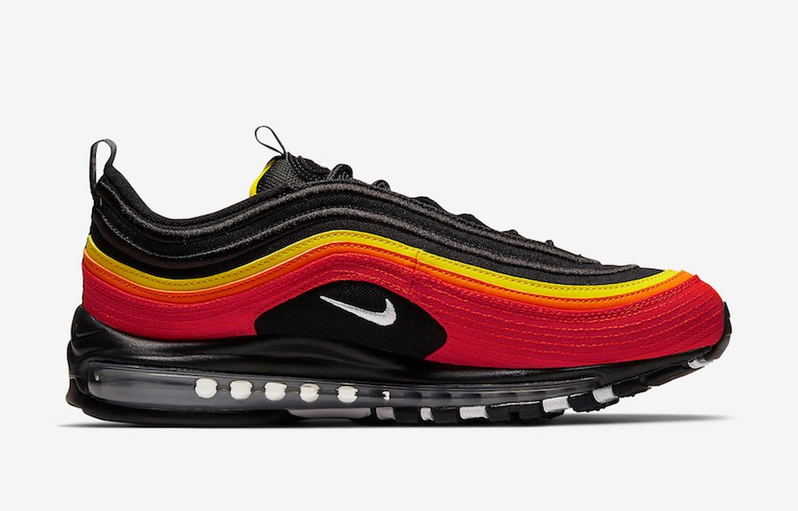 Nike Air Max 97 Baseball Black Red Yellow CT4525-001 Release Date Info