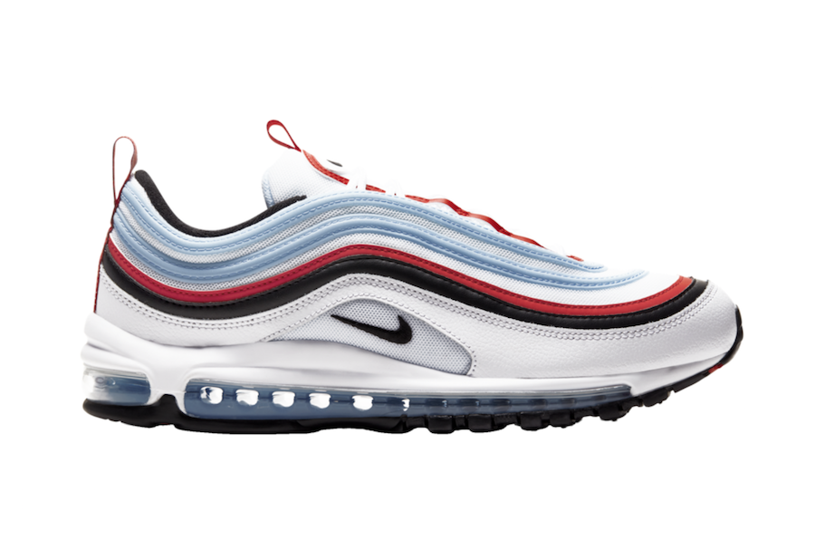 Nike Air Max 97 Light Blue Red Black CW6986-100 Release Date Info ...