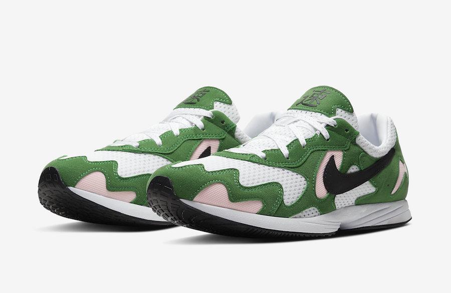 green nike shoes high tops