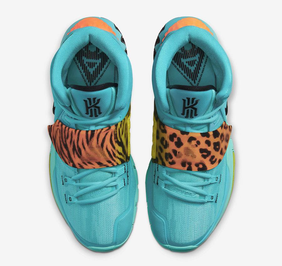 Nike Kyrie 6 Oracle Aqua Animal Print BQ4630-300 Release Date Info