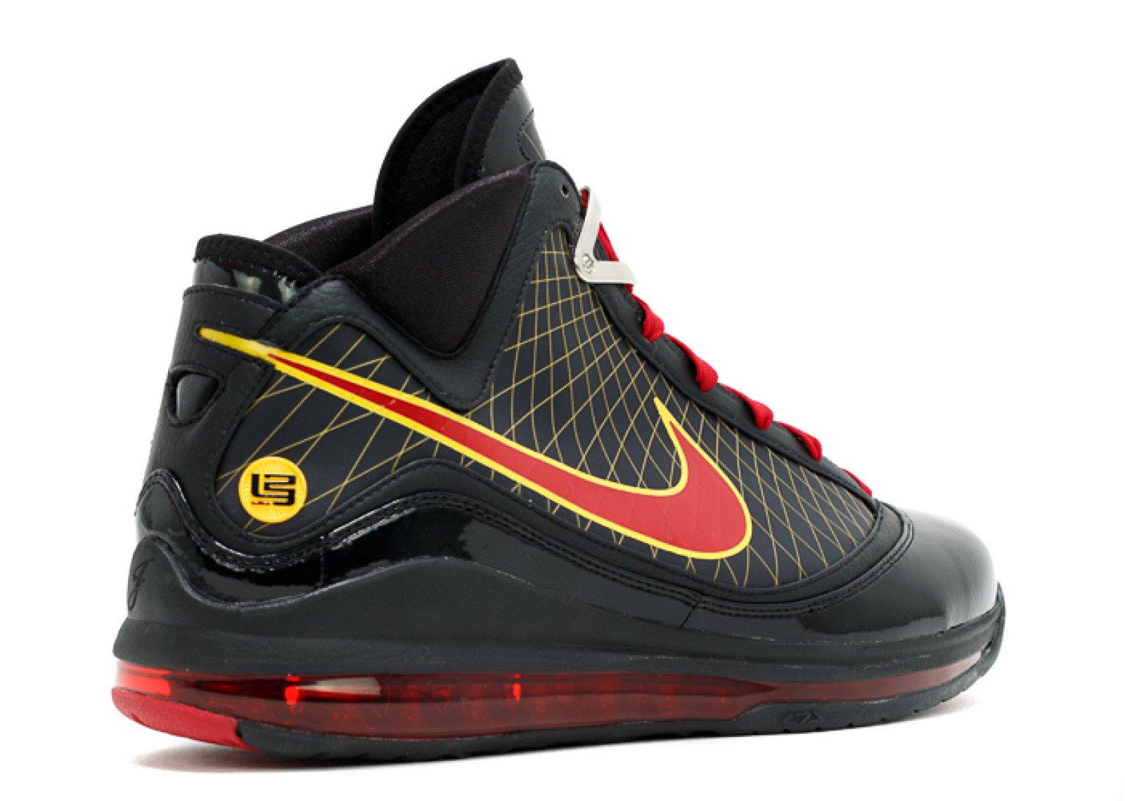 Nike LeBron 7 Fairfax Black Varsity Red Varsity Maize CU5646-001 Release Date Info