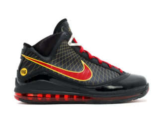 Nike LeBron 7 Fairfax Black Varsity Red Varsity Maize CU5646-001 Release Date Info