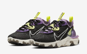 Nike React Vision Black Purple Yellow CI7523-002 Release Date Info