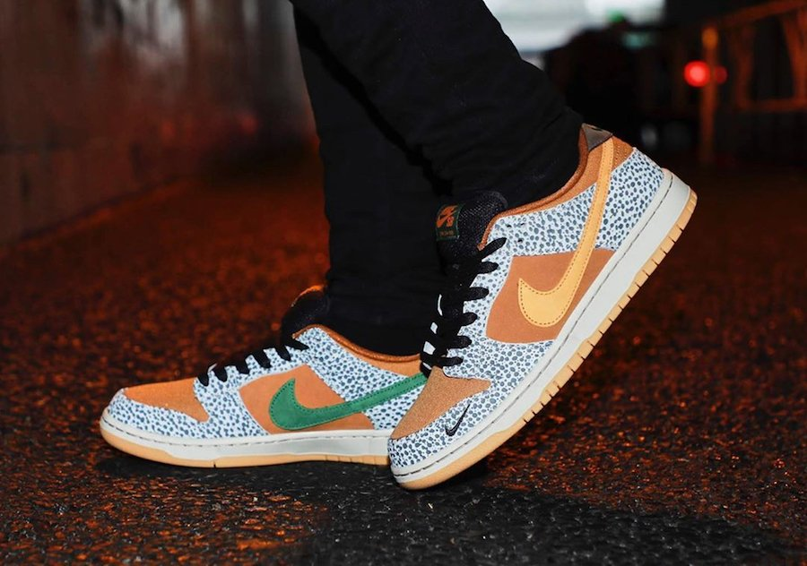 Nike SB Dunk Low Safari CD2563-002 On Feet