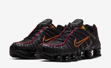 Nike Shox TL Black Red Orange CV1644-001 Release Date Info