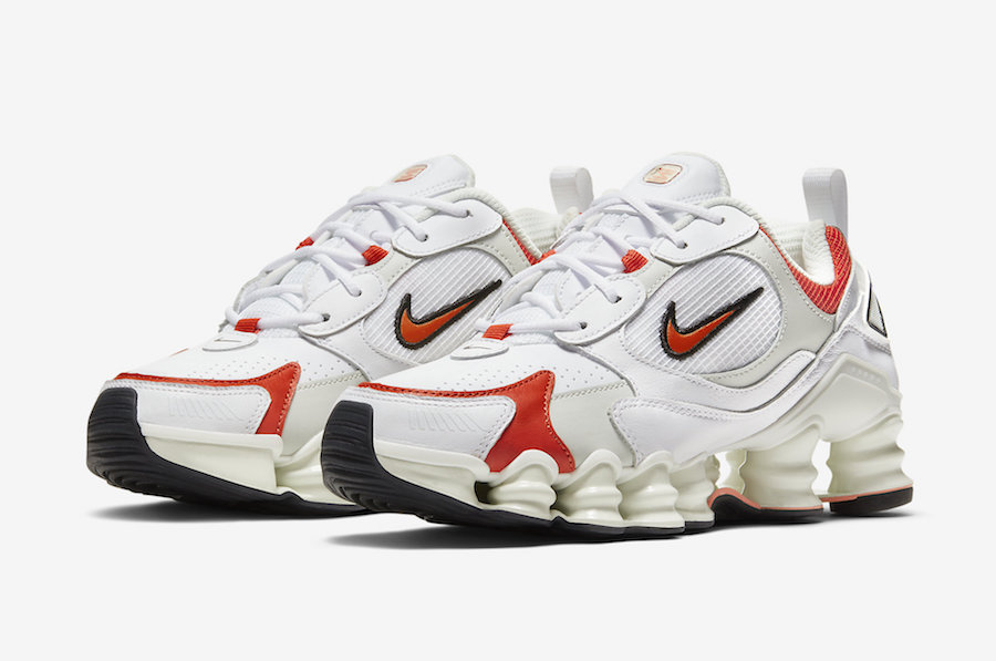 The Nike Shox TL Nova in White and Red is Available Now