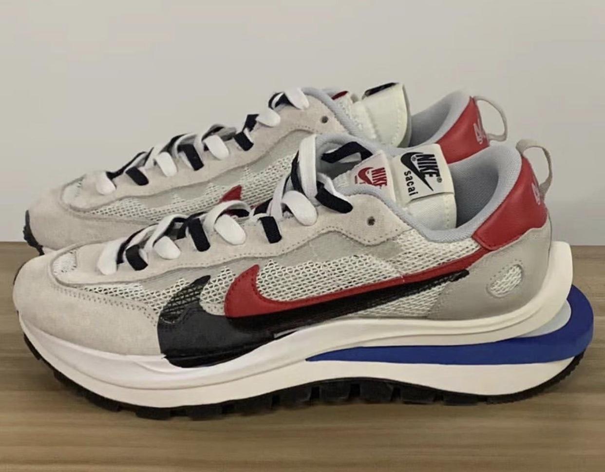 Sacai Nike VaporWaffle Sail Game Royal Sport Fuchsia CV1363-100 Release Date