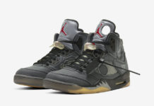 Off-White Air Jordan 5 Black Muslin Fire Red CT8480-001 Release Date