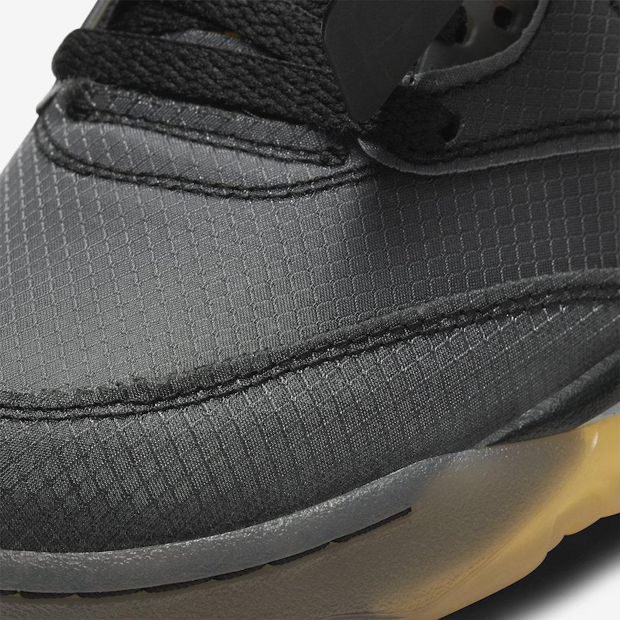 Off-White Air Jordan 5 Black Muslin Fire Red CT8480-001 Release Date
