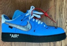 Off-White Nike Air Force 1 MCA Blue Black Sole