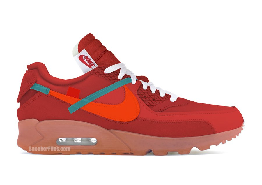 Off-White Nike Air Max 90 University Red AA7293-600 Release Date Info