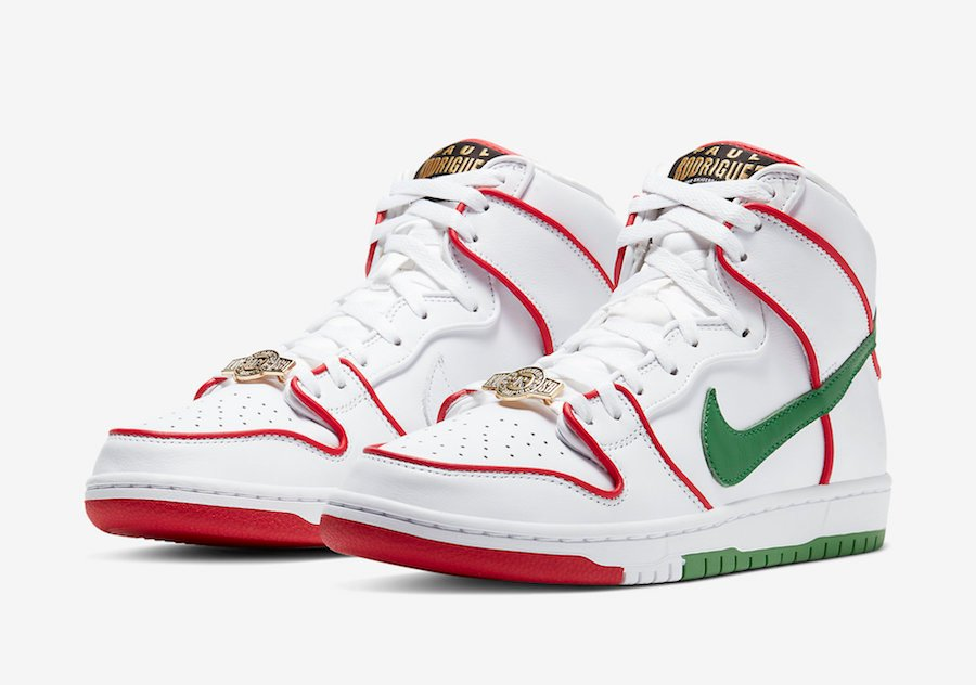 Paul Rodriguez Nike SB Dunk High Boxing CT6680-100 Release Date